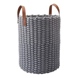 Rudon Laundry basket, L35 x W35 x H65cm, grey