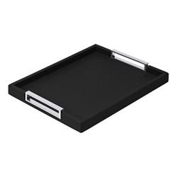 Victor Rectangular tray, 27.5 x 38cm, black