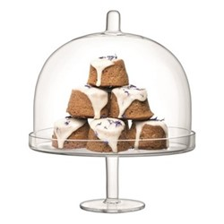 Serve Arch Cakestand and dome, H29.5 x D25cm, clear