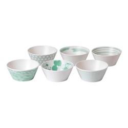 Pacific - Assorted Set of 6 tapas bowls, 11cm, mint