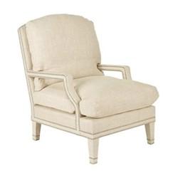 Stanhope Armchair, L68 x W95 x H99cm, natural linen