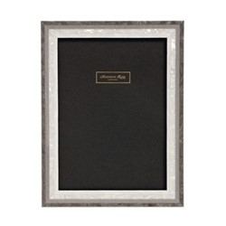 "Studio Photograph frame, 4 x 6"", grey mother of pearl marquetry"