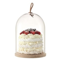 Ivalo Dome with ash base, H28.5 x D22cm, clear