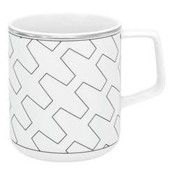 Trasso Mug, H10 x D8cm - 42cl, white