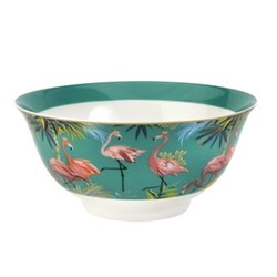 Tahiti - Flamingo Set of 4 bowls, 15cm, turquoise