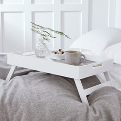 Breakfast in Bed Tray, H27 x W40 x L55cm, matte white
