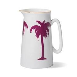 Palm Tree Jug, Dia10.5 x H18cm - 2 pint, gold rim