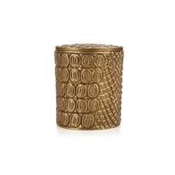 Cocodrilo Candle, H10 x D9.5cm, gold