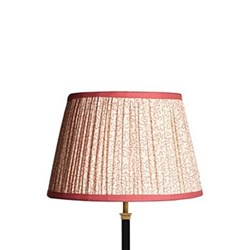 Straight Empire Lampshade, 35cm, coral squiggles
