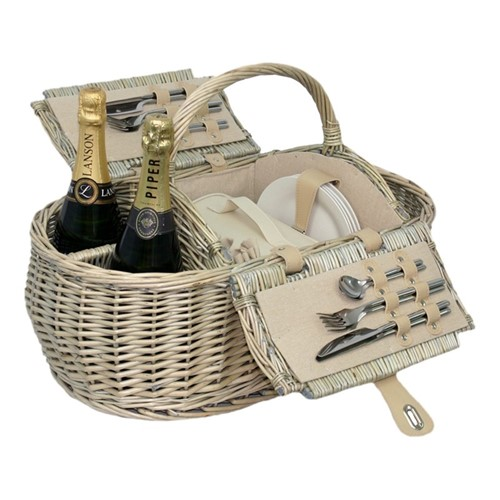 Boat Picnic hamper, H27 x W29 x L59cm, willow
