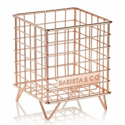 Pod Coffee capsule storage, 18 x 14 x 14cm, copper