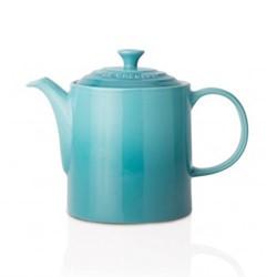 Stoneware Grand teapot, 1.3 litre, teal