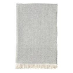 Merino bed throw, 230 x 150cm, mist & white