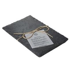 Cheese board, L38 x W20cm, grey slate