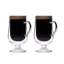 Le'Xpress Pair of Irish coffee glasses, 275ml, double-walled glass