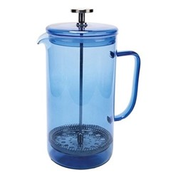 Colour Cafetiere, 8 cup - 1 litre, blue