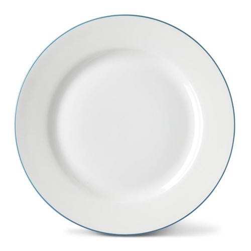 Rainbow Collection Side plate, 20cm, teal rim