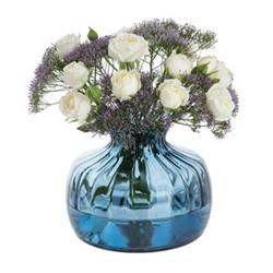 Cushion Vases Vase, H14.5cm, ink blue