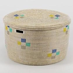 La Brise Large round storage basket, 32 x 50cm, morning
