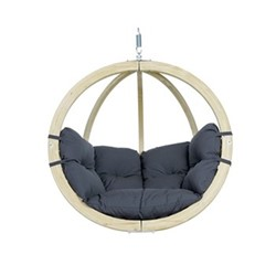 Globo Hanging chair (without stand), 121 x 118 x 69cm, anthracite