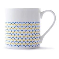 Ripple Mug, H9 x D8.5cm, yellow/blue