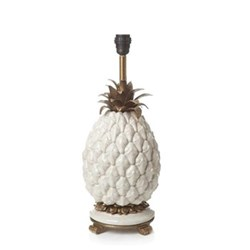 Ananas Pineapple lampstand, H50 x W20 x D20cm, white