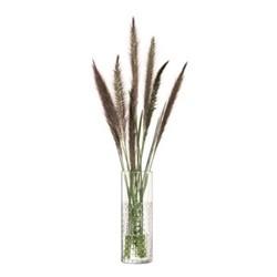 Wicker Vase, H20 x Dia7cm, clear