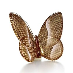 Pampillon lucky Butterfly ornament, H6.6 x W3 x L7.8cm, diamond/gold