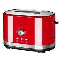 Manual Control 2 slot toaster, empire red