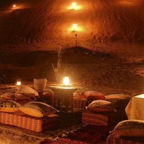 Moroccan luxury desert camp stay with helicopter transfer and camel trek
