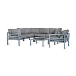 West Strand Corner sofa set, H64 x W220 x D220cm, aluminium