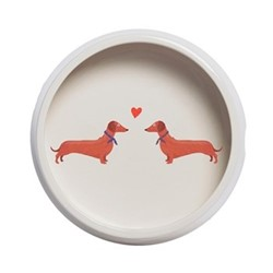 Dachshund Friends Dog bowl, H6cm, Multi