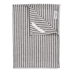 Harbour Stripe Tea towel, 50 x 70cm, black