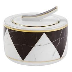 Carrara Sugar bowl, D9 x H8cm, black/white