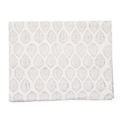 Leaf Tablecloth, 150 x 250cm, grey cotton