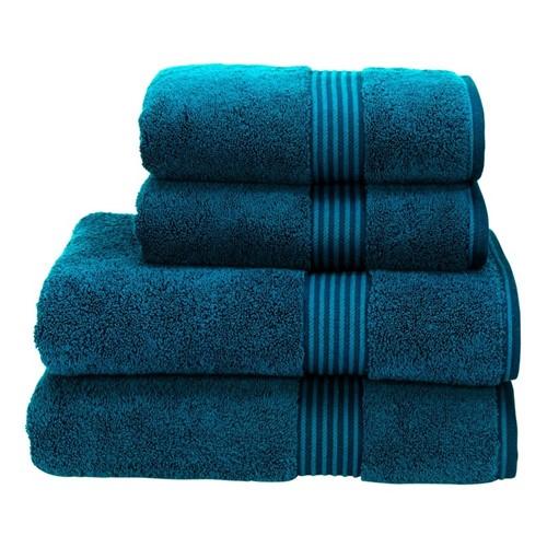 Supreme Hygro Pair of bath towels, 75 x 137cm, kingfisher