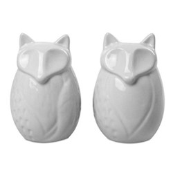 In The Forest Salt & pepper set, 9 x 6cm, cream