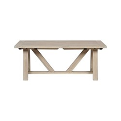 Arundel 6 -10 seater dining table, L184 - 274 x W95 x H73cm, oak