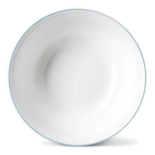 Rainbow Collection Cereal bowl, Dia16 x H5.5cm, aqua rim