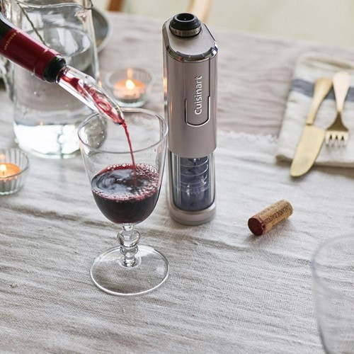 Cordless 4 in 1 Wine Opener, 220x75x50, SILVER