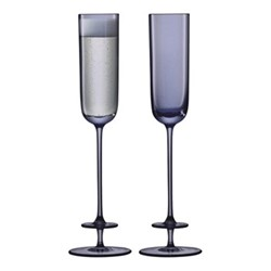 Champagne Theatre Pair of champagne flutes, 130ml, midnight blue