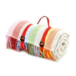 Stripes Picnic rug, 145x183cm, Rainbow