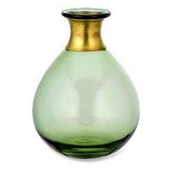 Miza Medium vase, H14 x Dia11cm, green