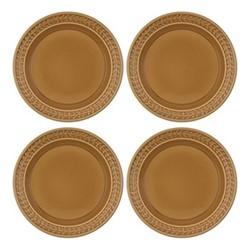 Botanic Garden Harmony Set of 4 plates, 20cm, amber