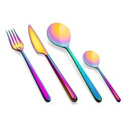 Linea 24 piece cutlery set, rainbow