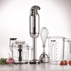 Hand blender, polished chrome