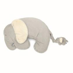 Elephant & Baby Tummy time snugglerug, grey