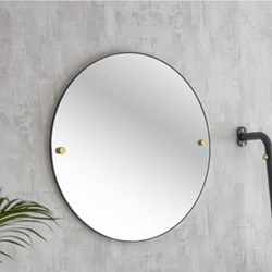 Adelphi Mirror, H55 x D2cm, Black
