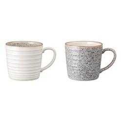 Studio Grey Pair of ridged mugs, 400ml