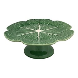 Cabbage Cake stand, 31 x 13cm, green